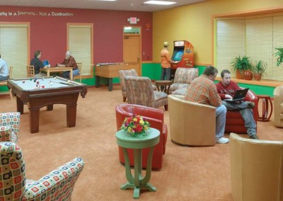 Activity Room - Mountain Laurel Recovery Center - Westfield Pennsylvania alcohol and drug rehab center for men - drug addiction treatment for men - dual diagnosis treatment center