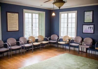 12-step meeting room - Mountain Laurel Recovery Center - Westfield Pennsylvania alcohol and drug rehab center - drug addiction treatment - dual diagnosis treatment center