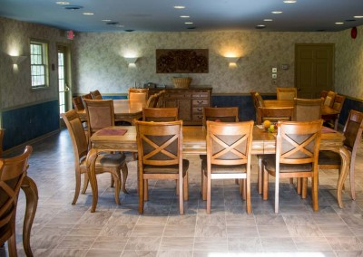 dining room - Mountain Laurel Recovery Center - Westfield Pennsylvania alcohol and drug rehab center - drug addiction treatment - dual diagnosis treatment center