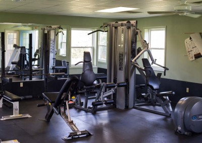 gym - fitness room - Mountain Laurel Recovery Center - Westfield Pennsylvania alcohol and drug rehab center for men - drug addiction treatment for men - dual diagnosis treatment center