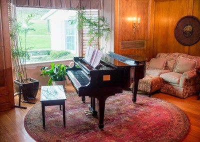 Piano - living room - Mountain Laurel Recovery Center - Westfield Pennsylvania alcohol and drug rehab center - drug addiction treatment - dual diagnosis treatment center